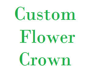 Custom flower crown. Custom hair flowers