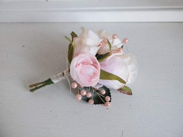 rose gold corsage