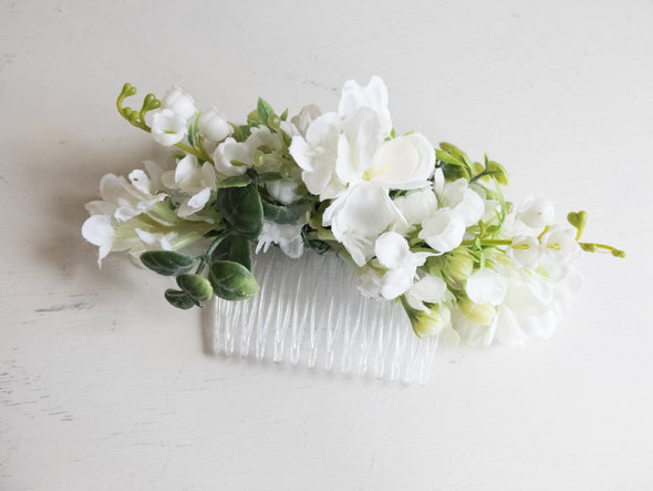flower hair comb for weddings
