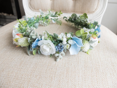 pale blue flower crown