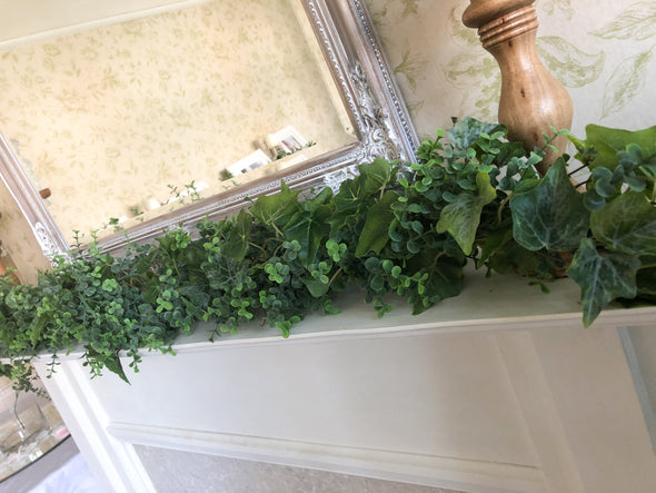 eucalyptus and ivy garland
