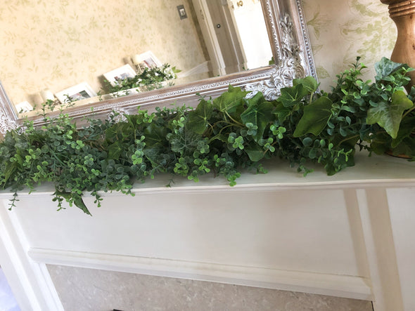 Ivy and eucalyptus greenery wedding garland