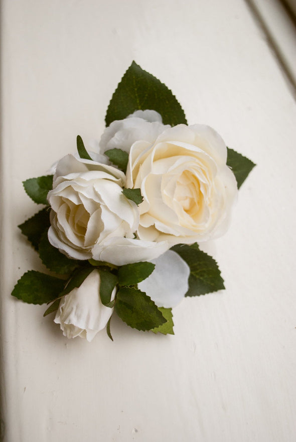 rose wedding corsage