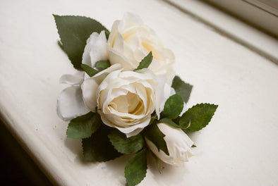 cream rose corsage