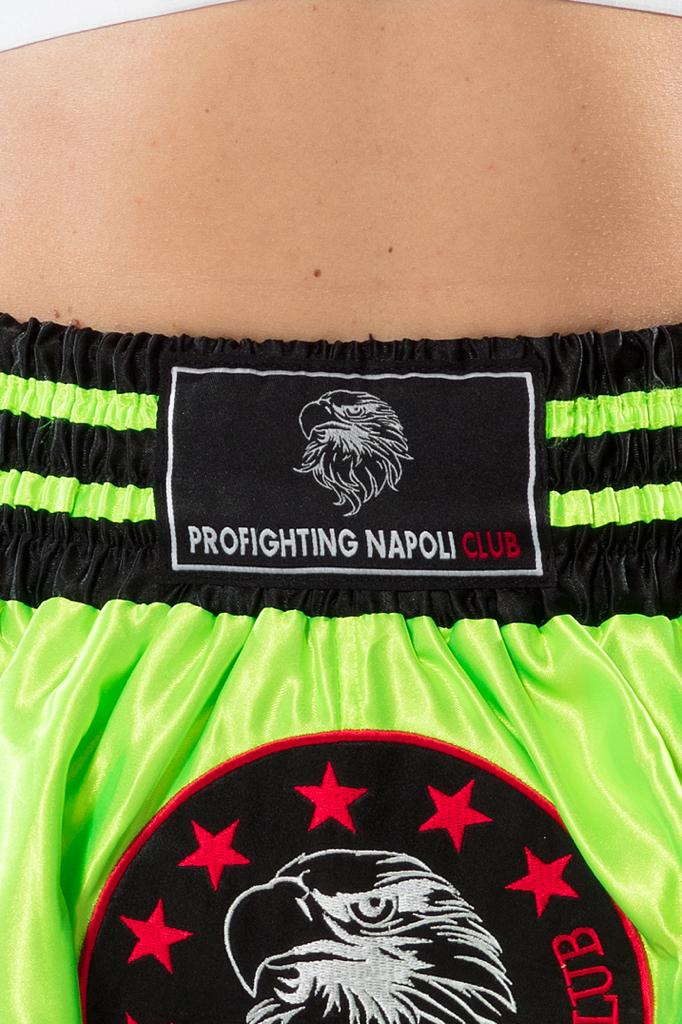 THAI BOXE SHORT - GREEN FLUO (unisex)