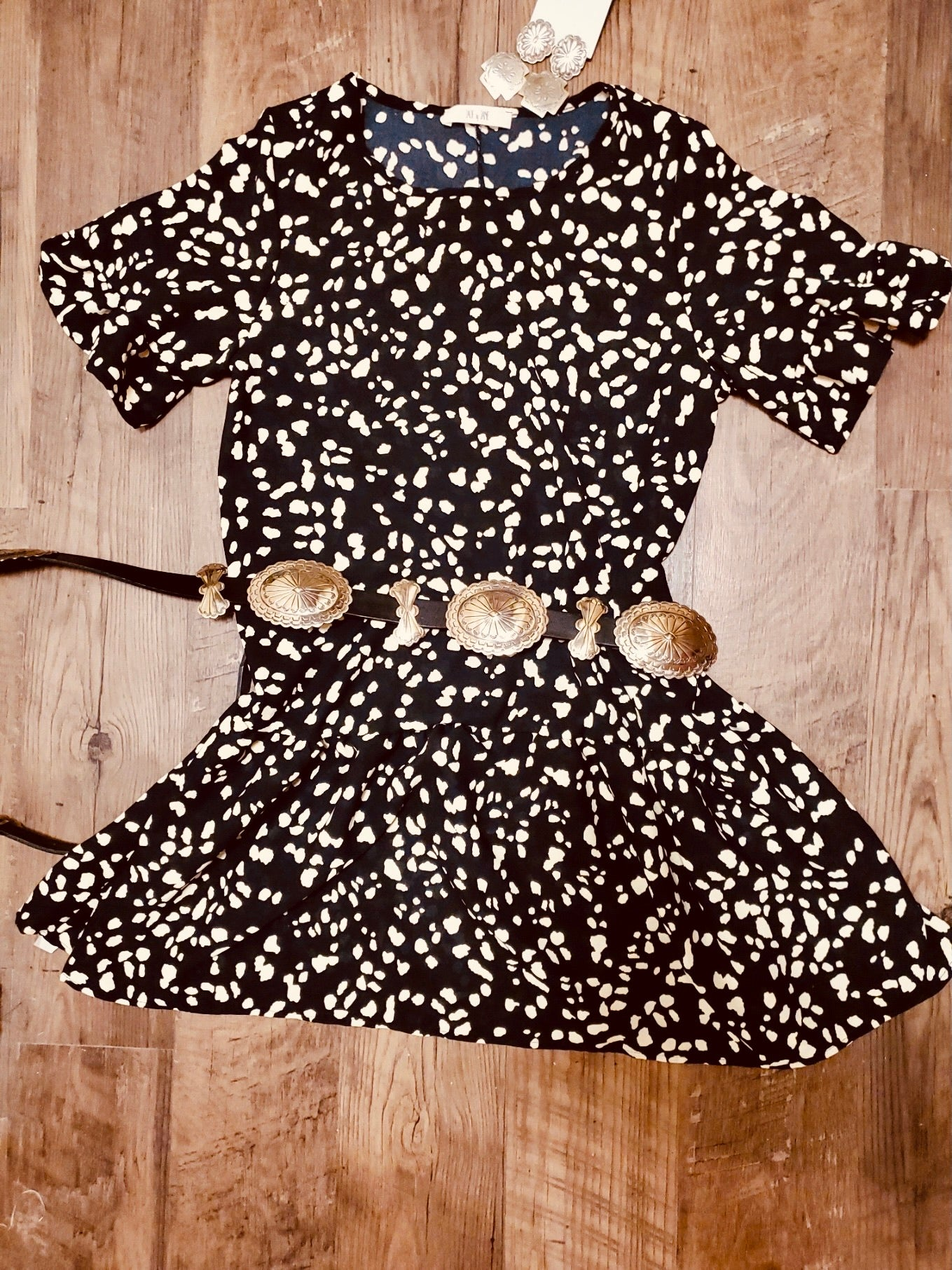 Black Cheetah Print Dress