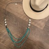 Long Turquoise 3 Strand Necklace