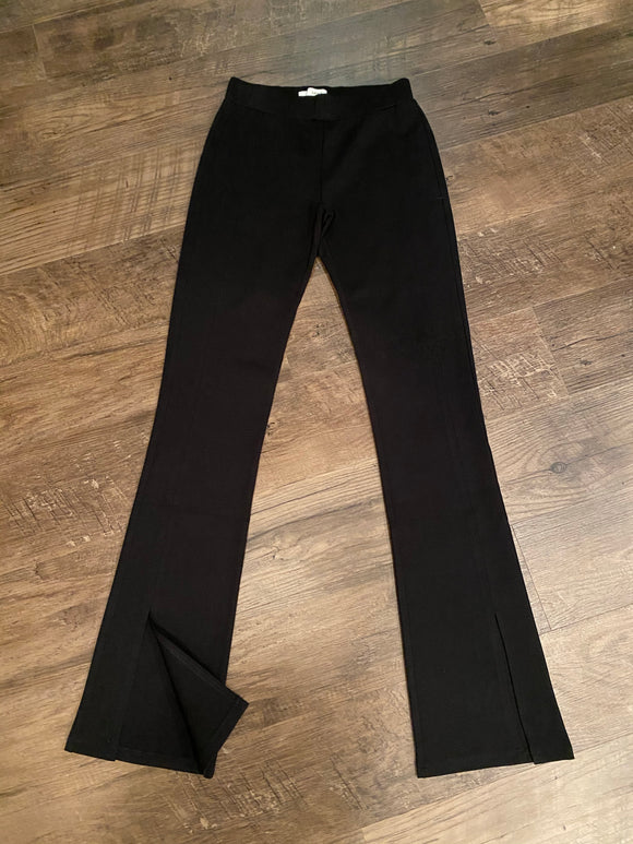 Black Pants with Slit