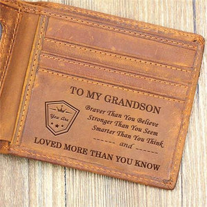 To My Grandson - Loved More Than You Know- Wallet