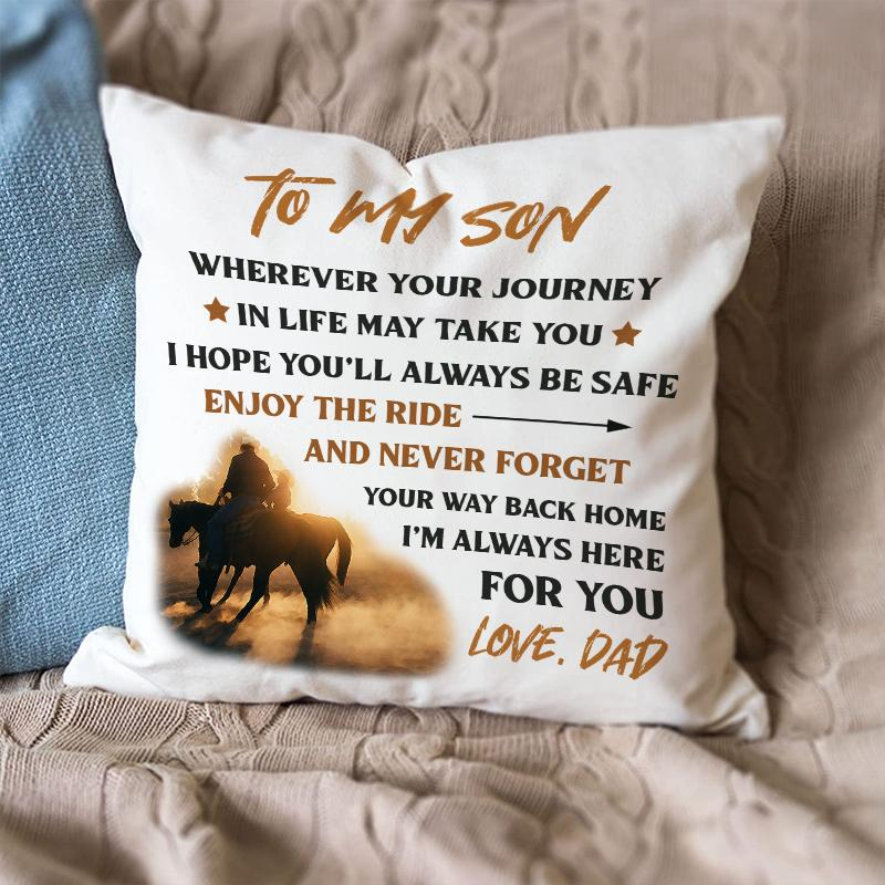 Dad To Son - Enjoy The Ride - Pillow Case
