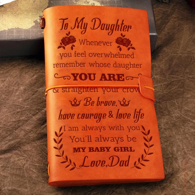 Dad To Daughter - Straighten Your Crown - Vintage Journal