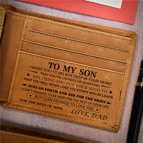 Dad To Son - Never Lose - Genuine Leather Wallet