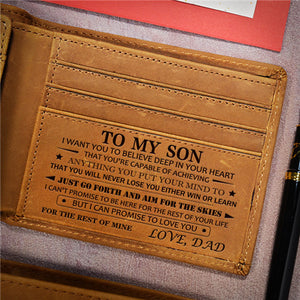 Dad To Son - Never Lose - Leather Wallet