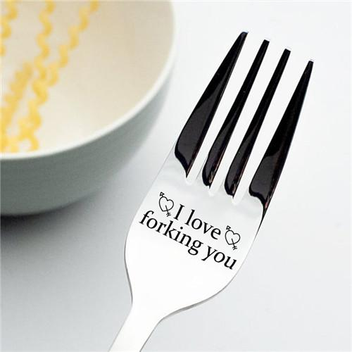 I Love Forking you - Engraved Fork
