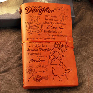 Dad To Daughter - Even When I'm Not Close By - Vintage Journal