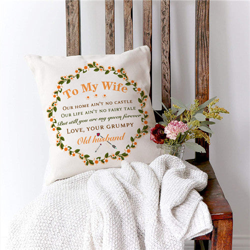 Husband To Wife - You Are My Queen Forever - Pillow Case