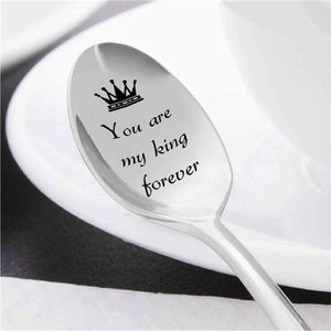 You Are My King/Queen Forever - Cute Coffee Spoon