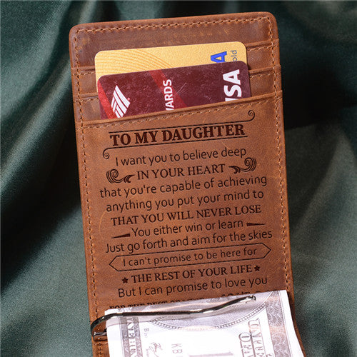Dad To Daughter - Never Lose - Money Clip Wallet
