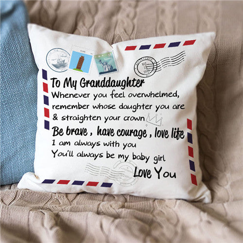 To My Granddaughter - Straighten Your Crown - Pillow Case