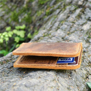 To My Grandson -You Will Never Lose- Leather Bifold Wallet