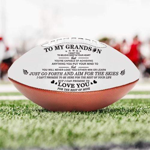 To My Grandson - Football- Never Lose