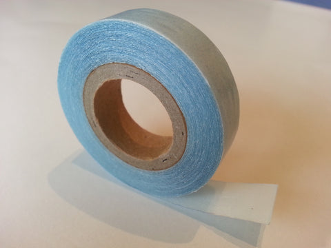 BLUE DOUBLE SIDED SALON TAPE for SKIN WEFT HAIR EXTENSIONS. HOLDS 3 MONTHS.