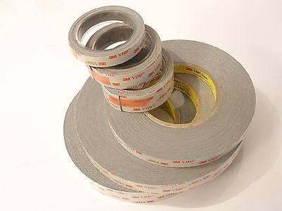 3M VHB RP25 RP45 RP62 Double Sided Adhesive Foam Tape metre lengths of 25mm wide