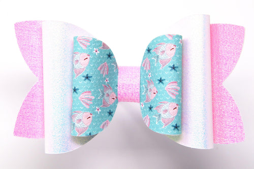 Pink lace glitter chocolate bunny easter egg phoebe hair bow