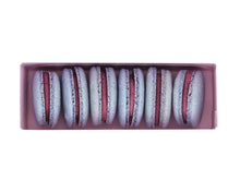 Load image into Gallery viewer, plant based vegan blueberry macarons