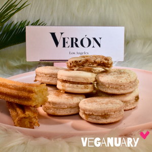 Plant Based Vegan Veganuary Churro Macarons