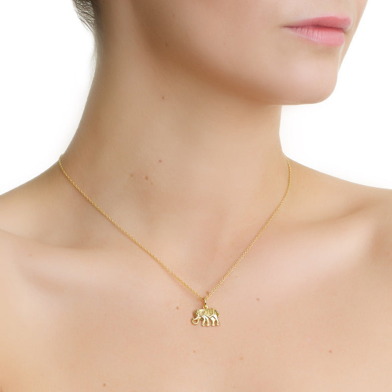 newbridge gold elephant charm necklace