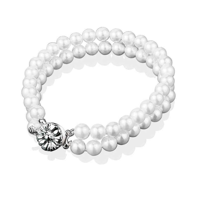 NEWBRIDGE PRINCESS GRACE DOUBLE STRAND PEARL BRACELET VGK138029