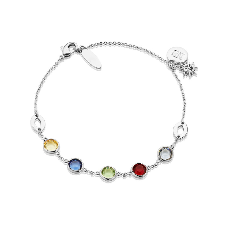 NEWBRIDGE AMY COLLECTION SILVER COLOURED STONE BRACELET BL014