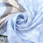 DESIGNER INSPIRED BEE MOTIF SCARF BABY BLUE