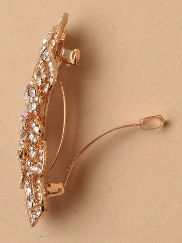 GOLD & CRYSTAL BARRETTE