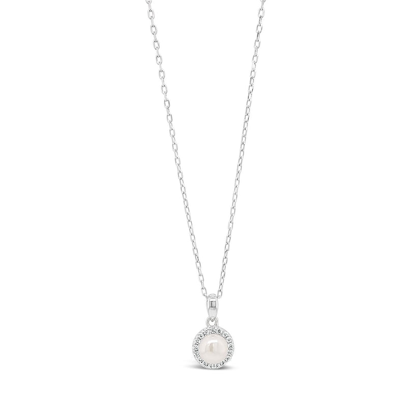 ABSOLUTE KIDS SILVER CRYSTAL AND PEARL PENDANTCONFIRMATION COMMUNION
