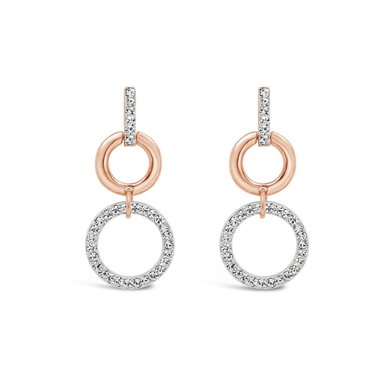 ROSE SILVER CIRCLE DROP EARRING