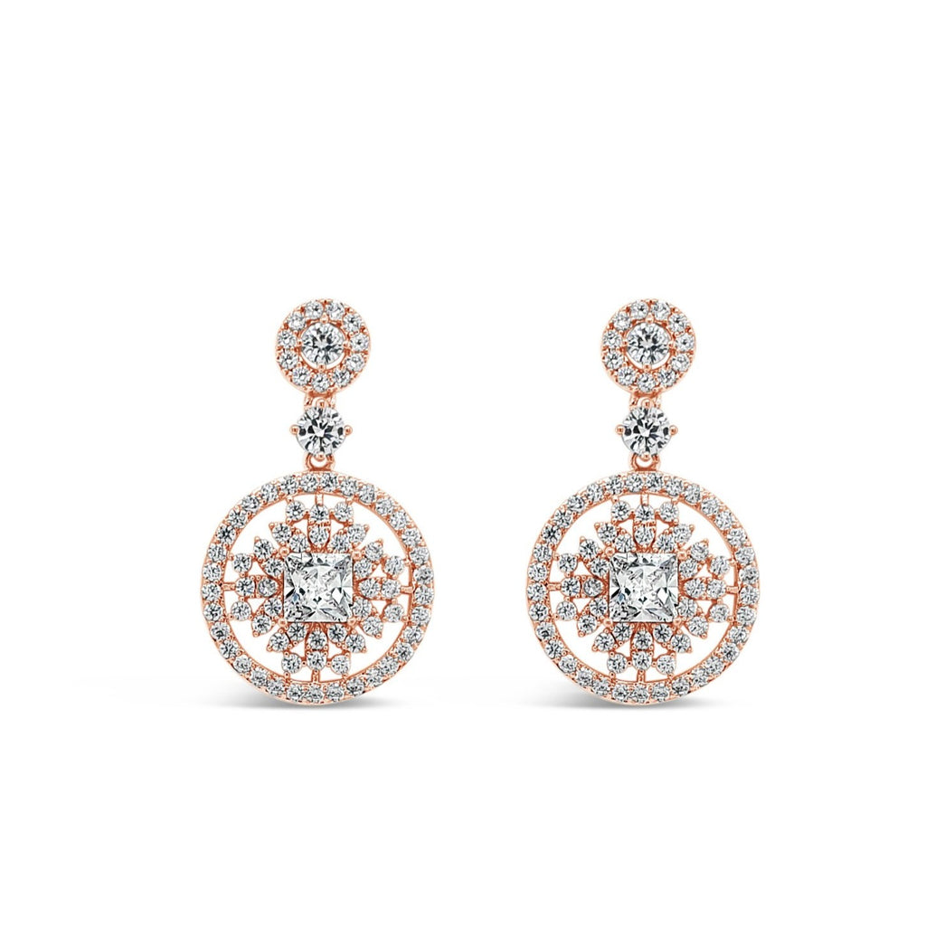 ABSOLUTE ROUND DROP FILIGREE EARRINGS E2106