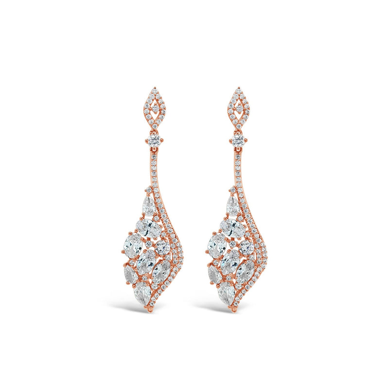 ABSOLUTE LARGE CRYSTAL ANGLE EARRINGS E2110
