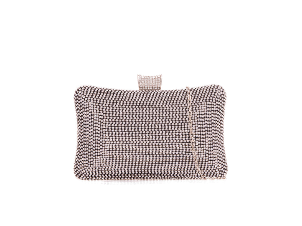 CRYSTAL HARD COMPACT EVENING MULTI  CLUTCH BAG EB019