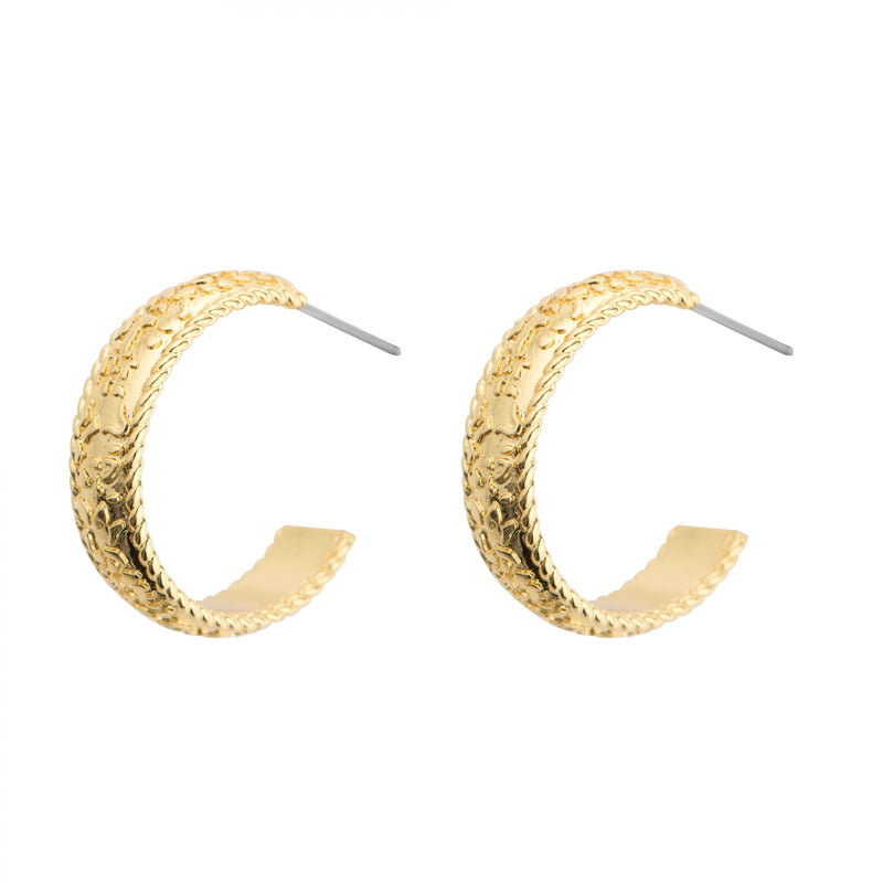 NEWBRIDGE AMY COLLECTION GOLD PLATED HOOP EARRINGS E026