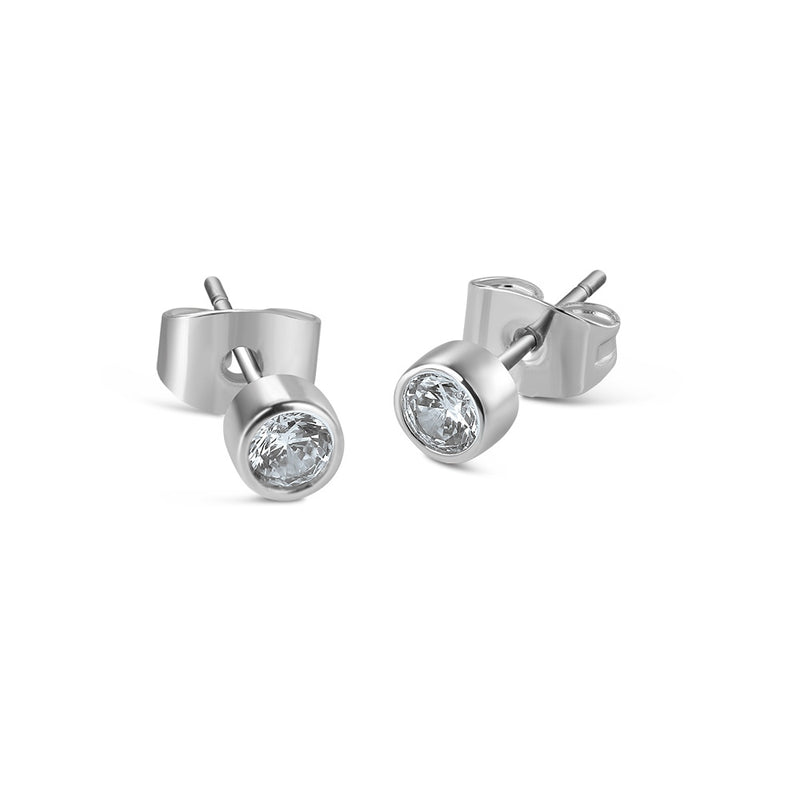 NEWBRIDGE CHILDRENS CLEAR STONE STUD EARRING ER1106