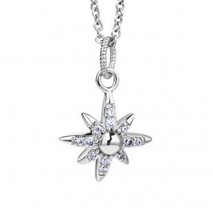 NEWBRIDGE AMY COLLECTION SILVER PLATED STAR PENDANT P022SR