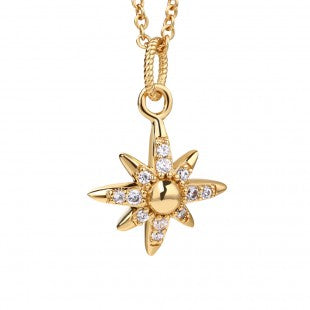 NEWBRIDGE AMY COLLECTION GOLD PLATED STAR PENDANT P022