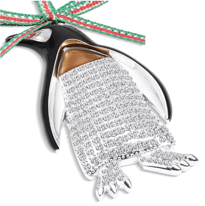 NEWBRIDGE SILVERWARE PENGUIN HANGING DECORATION LS800