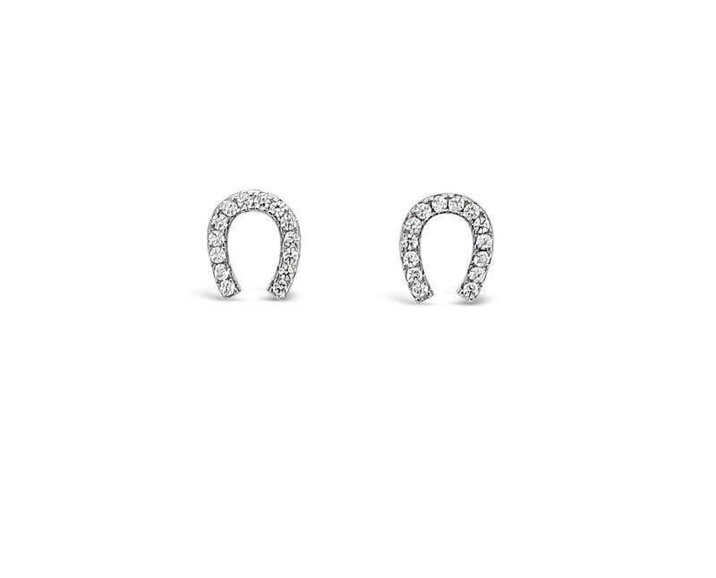 ABSOLUTE STERLING CRYSTAL HORSE SHOE EARRING SE201SL