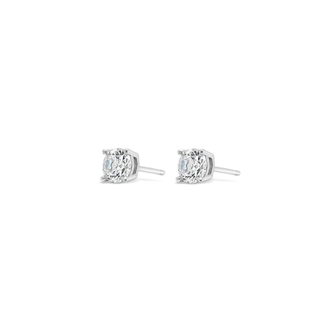 ABSOLUTE KIDS SILVER CRYSTAL STUD EARRINGS CONFIRMATION COMMUNION