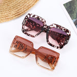 DESIGNER INSPIRED OVERSIZED SUNGLASSES WITH CRYSTAL DD DETAIL