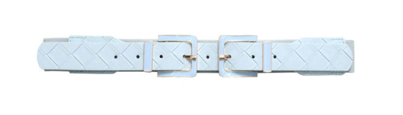 BRAIDED METAL BUCKLE ELASTICATED BELT