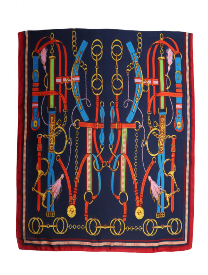 BOLD COLOUR TACK PATTERN PRINT SCARVES